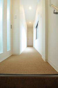 新設した廊下の写真です