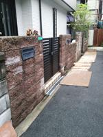 工事前の玄関回りの写真です。