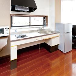 新設したキッチンの写真です。